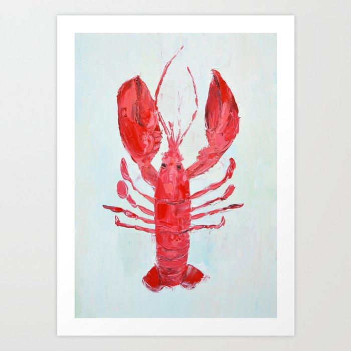 Coastal Lobster Art Print