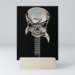 Skull Guitar Mini Art Print