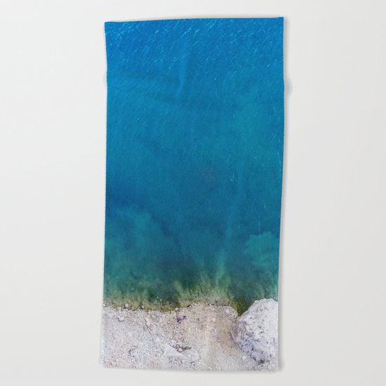 Blue from the top 1 Beach Towel