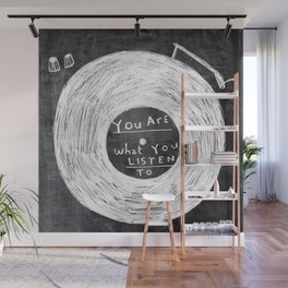 you are what you listen to, BLACK Wall Mural