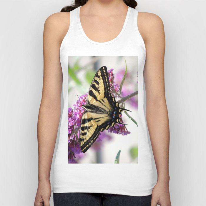 Western Tiger Swallowtail on the Neighbor's Butterfly Bush Unisex Tanktop