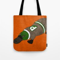 platypus Tote Bags featuring Platypus by subpatch