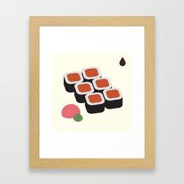 Spicy Tuna Roll Framed Art Print