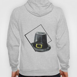 Hat in Square Thanksgiving Minimal Art Hoody