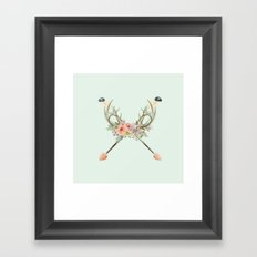 arrows and flowers Framed Art Print