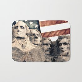 Patriotic Mount Rushmore Bath Mat