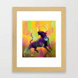 Ragging Bull Framed Art Print