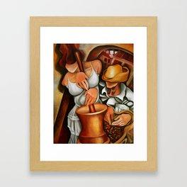 Cuban pilon Framed Art Print