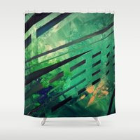 malachite Shower Curtains featuring MALACHITE by Matt Schiermeier