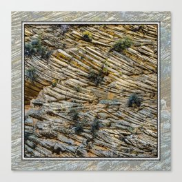 LAYERS OF TIME IN ANCIENT SANDSTONE Canvas Print