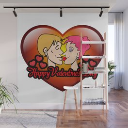 happy valentine's day II Wall Mural