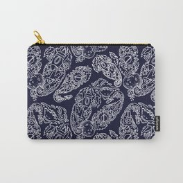 Cosmic Paisley Navy Blue Carry-All Pouch