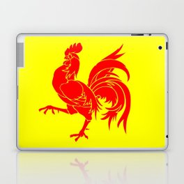 Flag of wallonia - Drapeau wallon,wallonie,Belgique,Belge,Bruxelles,France,Mons,Charleroi,coq,jaune Laptop & iPad Skin