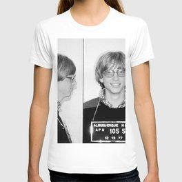 Bill Gates Mugshot 1977 Black & White T-shirt