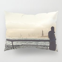 Lady Liberty, my man, some fisher people. Pillow Sham