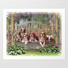 Cavalier Cottage Art Print