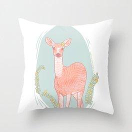 a doe, a deer, a female deer Throw Pillow