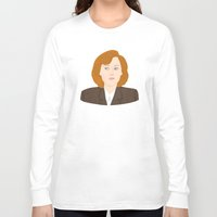 scully Long Sleeve T-shirts featuring Dana Scully by Anna Valle