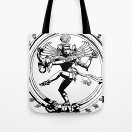 Natraj Dance - Mono Tote Bag