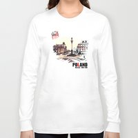 poland Long Sleeve T-shirts featuring Poland, Warsaw 1890-1900 by viva la revolucion