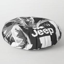 Ronaldo Black White Color Floor Pillow