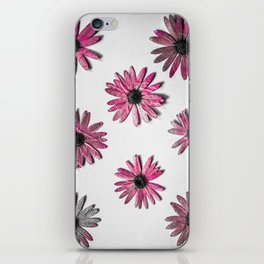 Crazy Pink Flower Print iPhone Skin