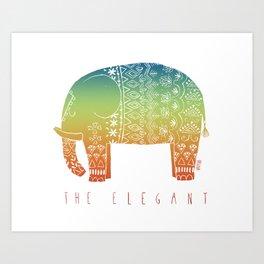 THE ELEGANT (RAINBOW) Art Print