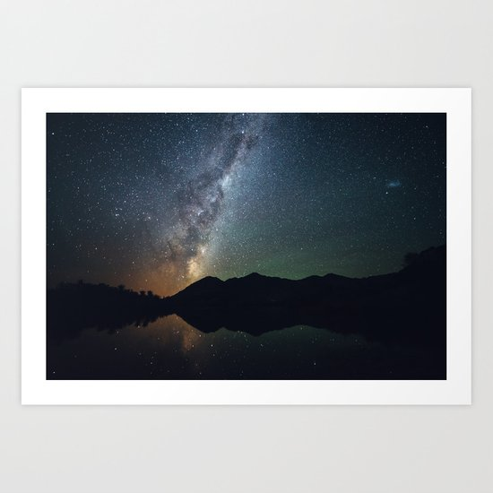 The core of the milky way Art Print