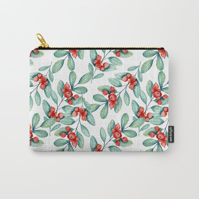 Branches with red berries Carry-All Pouch