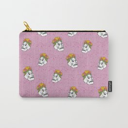 SKULL & FLOWERS - PINK Carry-All Pouch