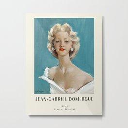 Poster-Jean-Gabriel Domergue-Femme. Metal Print