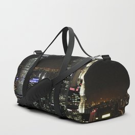 city at night lights skyline Duffle Bag