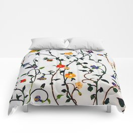 FLORAL AND VINE ABSTRACT PATTERN Comforters