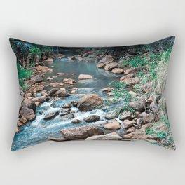 Flowing Botanical Garden Creek Portrait Rectangular Pillow