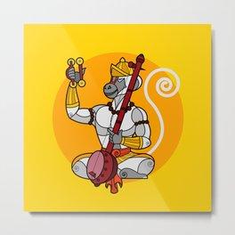 Hanuman Singing Gold Metal Print