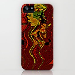 Palm and mysterious shape iPhone Case