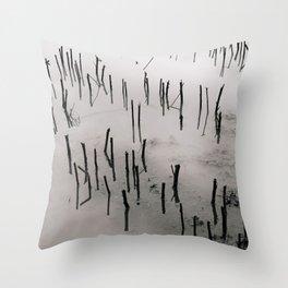Flooded Crop Throw Pillow
