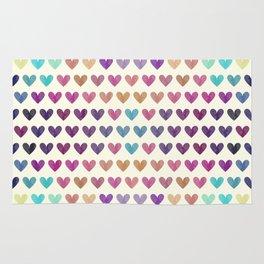 Colorful hearts III Rug