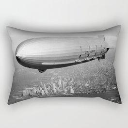 Airship over New York Rectangular Pillow