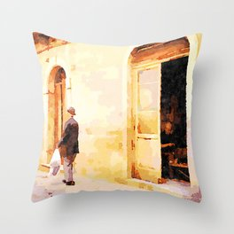 Vulture: old shoemaker Throw Pillow