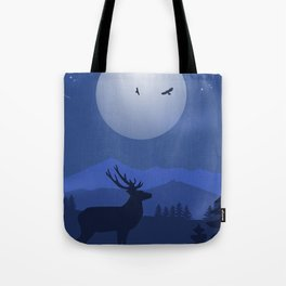 Mystical Night in the Mountains Tote Bag