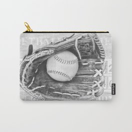 Softball (black and white) Carry-All Pouch