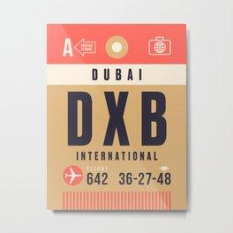 Baggage Tag A - DXB Dubai UAE Metal Print