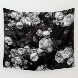 Roses are black and white Wall Tapestry