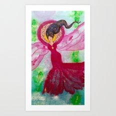Angelica the Angel of Water Art Print