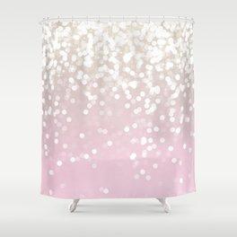 BLUSH GLITTER SPARKLE LIGHTS Shower Curtain
