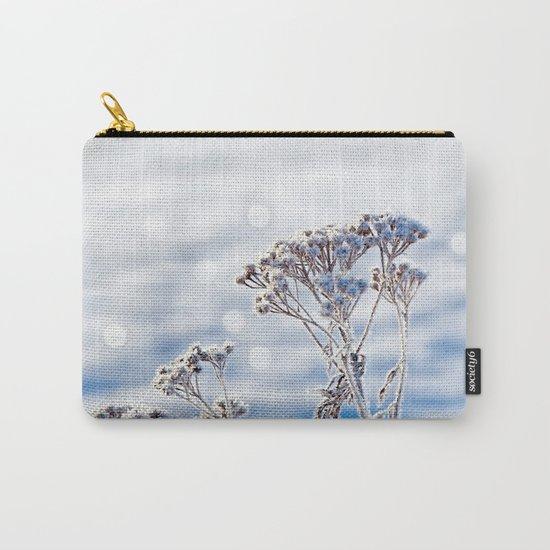 Sparkling hoar frost II Winter Snow Sun Bokeh Carry-All Pouch