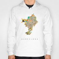 barcelona Hoodies featuring Barcelona by Nicksman