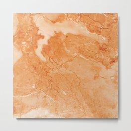 Brown & Beige Marble Metal Print