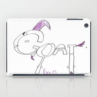 goat iPad Cases featuring Goat by Ryan van Gogh